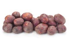Jonge purpere aardappels stock fotografie