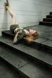 Jonge redhead vrouw stock afbeeldingen