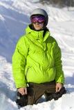 Jonge ruiter op de sneeuw Stock Afbeelding