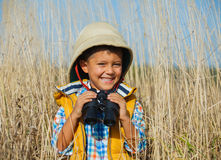 Jonge safarijongen Royalty-vrije Stock Fotografie