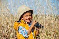 Jonge safarijongen Stock Afbeelding