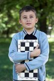 Jonge schaak-speler Royalty-vrije Stock Foto