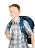 Jonge schooljongen stock afbeelding