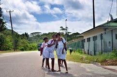 Jonge schoolmeisjes Stock Fotografie