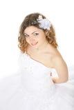Jonge schoonheidsbruid in huwelijkskleding Royalty-vrije Stock Foto's