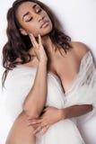 Jonge sexy Afrikaanse Amerikaanse vrouw Stock Afbeeldingen