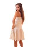 Jonge geïsoleerde vrouw Royalty-vrije Stock Fotografie