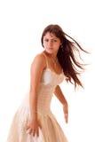 Jonge sexy geïsoleerdel vrouw Royalty-vrije Stock Fotografie