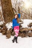 Jonge sexy langharige vrouw in legging Royalty-vrije Stock Fotografie