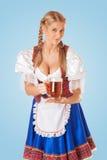 Jonge sexy Oktoberfest-vrouw stock afbeelding