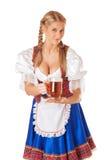 Jonge sexy Oktoberfest-vrouw royalty-vrije stock afbeeldingen