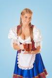 Jonge sexy Oktoberfest-vrouw royalty-vrije stock foto