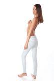 Jonge sexy vrouw in jeans Royalty-vrije Stock Afbeelding