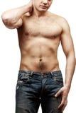 Jonge shirtless spiermens Royalty-vrije Stock Foto's