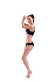 Jonge slanke vrouw in sportenbustehouder Royalty-vrije Stock Afbeelding