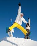 Jonge snowboarder Stock Foto
