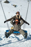 Jonge snowboarders Royalty-vrije Stock Foto's