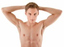 Jonge sportman met een naakt torso Royalty-vrije Stock Afbeelding