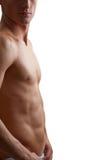 Jonge sportman met een naakt torso Royalty-vrije Stock Afbeeldingen