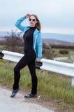 Jonge sportvrouw Stock Afbeeldingen