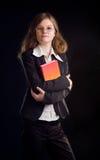 Jonge studentenvrouw stock foto's