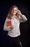 Jonge studentenvrouw royalty-vrije stock afbeeldingen