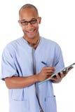 Jonge succesvolle Afrikaanse Amerikaanse mens arts Royalty-vrije Stock Afbeelding