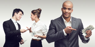 Jonge succesvolle bedrijfsmensen Stock Afbeelding