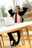Jonge succesvolle zakenman Royalty-vrije Stock Afbeeldingen