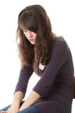 Jonge tienervrouw met depressie Stock Afbeelding