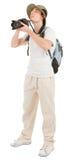 Jonge toerist met camera stock afbeeldingen