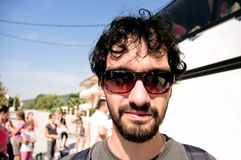 Jonge toerist in zijn zonnebril Stock Fotografie