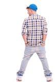 Jonge toevallige mens van rug Stock Fotografie