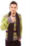Jonge toevallige mensen tumbs omhoog Royalty-vrije Stock Afbeelding