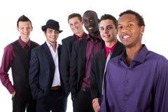 Jonge trendy interracial zakenlieden stock foto