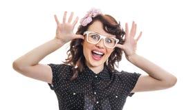 Jonge Trendy Vrouw Stock Afbeeldingen