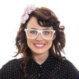 Jonge Trendy Vrouw Royalty-vrije Stock Afbeeldingen