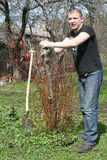 Jonge tuinman Royalty-vrije Stock Foto