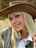 Jonge veedrijfster Stock Afbeelding