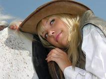 Jonge veedrijfster Stock Foto