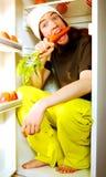 Jonge vegetariër royalty-vrije stock fotografie