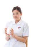 Jonge verpleegstersonderbreking Royalty-vrije Stock Afbeeldingen