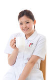 Jonge verpleegstersonderbreking Royalty-vrije Stock Fotografie