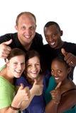 Jonge verse multiraciale groep Stock Afbeeldingen