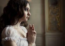 Jonge victorian dame Royalty-vrije Stock Fotografie