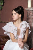 Jonge victorian dame Royalty-vrije Stock Foto's
