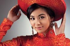 Jonge Vietnamese vrouw Stock Afbeeldingen