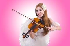 Jonge vioolspeler Royalty-vrije Stock Afbeelding