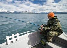 Jonge visser in Noorwegen Stock Afbeelding
