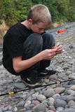 Jonge vissers Royalty-vrije Stock Foto